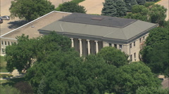 AERIAL United States-University South Dakota Old Building Stock Footage