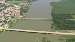 AERIAL United States-Meridan Bridge Stock Footage