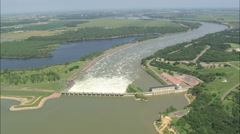 AERIAL United States-Gavins Point Dam Stock Footage