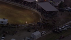 AERIAL United States-Team Roping - stock footage