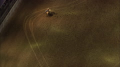 AERIAL United States-Barrel Racing - stock footage