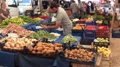Fresh vegetables market 4 Arkistovideo