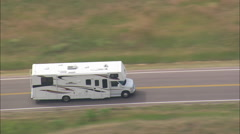 AERIAL United States-Route 240 And Cedar Pass Lodges Stock Footage