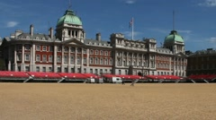 Square of royal horse parades. London, UK Stock Footage