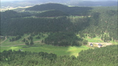 AERIAL United States-Lodges In Black Hills National Forest - stock footage