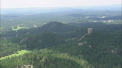 AERIAL United States-Black Hills National Forest - stock footage