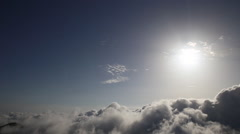 Cumulus clouds and the sun, video HD slider slow Stock Footage