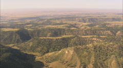 AERIAL United States-Flight Low Over The Cheyenne To Deadwood Stage Road Stock Footage