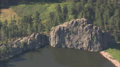 AERIAL United States-Highway 16A Through Custer State Park - stock footage
