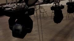 LAN Gaming Event 7 Lights Stock Footage