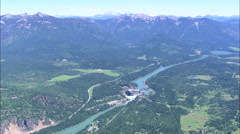 AERIAL United States-Noxon Dam On Clark Fork River - stock footage
