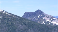 AERIAL United States-Cabinet Mountains Stock Footage