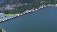 AERIAL United States-Lake Kootanusa Stock Footage
