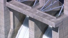 AERIAL United States-Libbey Dam Stock Footage