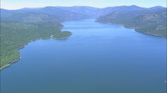 AERIAL United States-Salish Mountains Stock Footage