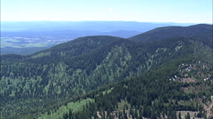 AERIAL United States-Flight Over Whitefish Range Towards Whitefish Stock Footage