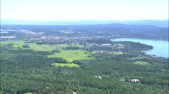 AERIAL United States-Whitefish - stock footage