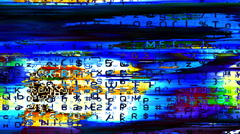 Digital data forms pulse and flicker - Video Background 2158 HD, 4K Stock Footage