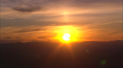 AERIAL United States-The Sun Sets Over Glacier Park - stock footage