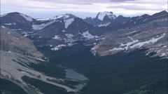 AERIAL United States-East Side Of Glacier Of Park - stock footage