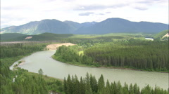 AERIAL United States-Mcdonald Creek Valley Stock Footage