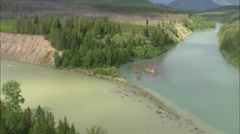 AERIAL United States-North Fork And Middle Fork Of The Flathead River Stock Footage