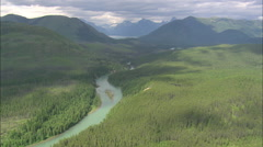 AERIAL United States-Flathead River - stock footage