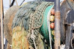 Commercial fishing boat equipment. - stock photo