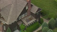 AERIAL United States-Conrad Mansion Stock Footage