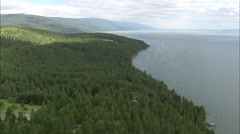 AERIAL United States-North End Of Flathead Lake Stock Footage