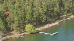 AERIAL United States-Wild Horse Island State Park Stock Footage