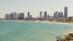 Tel Aviv city -  SeaView1 - rec709 Stock Footage