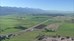 AERIAL United States-Approaching The Mission Mountains Stock Footage