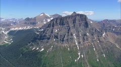 AERIAL United States-Going To The Sun Road Near Big Bend Stock Footage