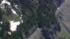 AERIAL United States-Logan Pass To Siyeh Bend Stock Footage