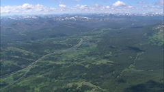 AERIAL United States-East Glacier Park Stock Footage