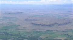 AERIAL United States-Shaw And Square Buttes Stock Footage