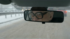 Daily driving in winter city - stock footage