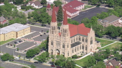 AERIAL United States-Helena Cathedral Stock Footage
