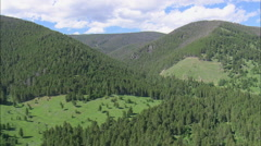 AERIAL United States-Helena National Forest Stock Footage