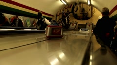 Unidentified passangers at Underground. London - stock footage