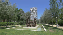 Monument in Ciutadella Park, Barcelona Stock Footage