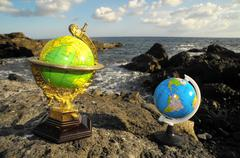 Vintage Globes Planet Earth Stock Photos
