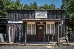 Undertaker in western village - stock photo