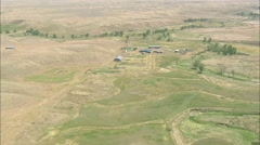 AERIAL United States-Remote Ranches - stock footage