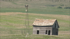 AERIAL United States-Abandoned Homestead Stock Footage