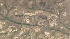 AERIAL United States-Arid Landscape With Small Creeks - stock footage