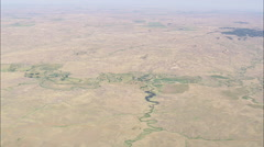 AERIAL United States-Ranches On Fallon Creek Stock Footage