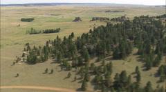 AERIAL United States-Flight Around The Edge Of Medicine Rocks - stock footage