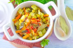 Baked vegetables Stock Photos